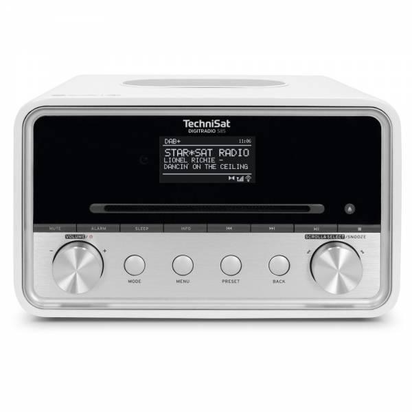 Technisat DAB+/UKW/Internetradio Weiß Front (Digitradio 585)