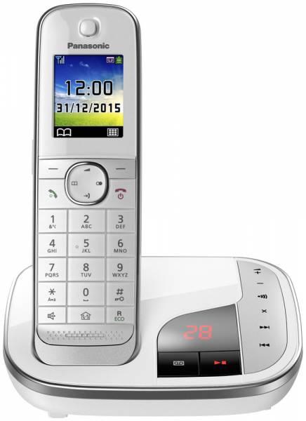 Panasonic KX-TGJ 320 GW Schnurloses DECT-Telefon Front mit Basisstation