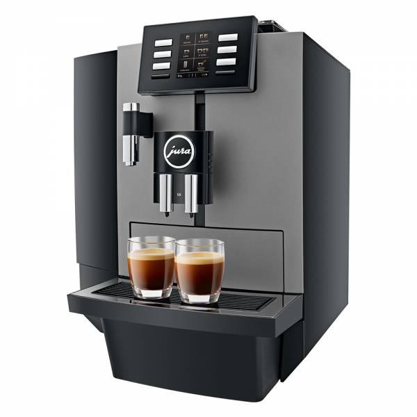 Jura X6 Kaffeevollautomat Seitlich DarkInox
