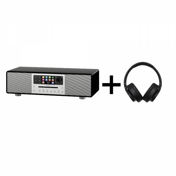 Sonoro Meisterstück Schwarz Front + Audio Technica ATH-ANC700BT Front