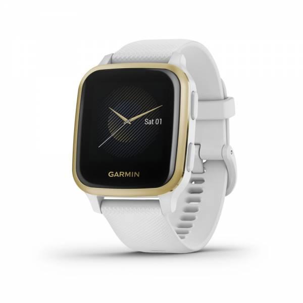 Garmin VENU SQ Weiss Gold Smartwatch Front