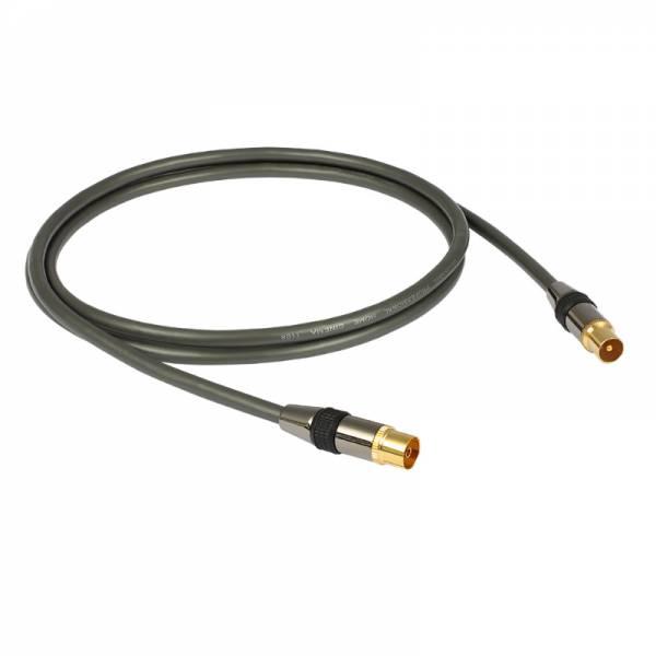 Goldkabel Antennen-kabel schwarz (profi Antenne)