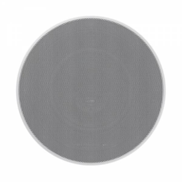 Bowers Wilkins CCM682 Einbaulautsprecher mit Gitter Weiss Frontansicht