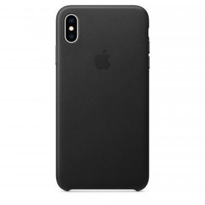 iPhone XS Max Leder Case schwarz