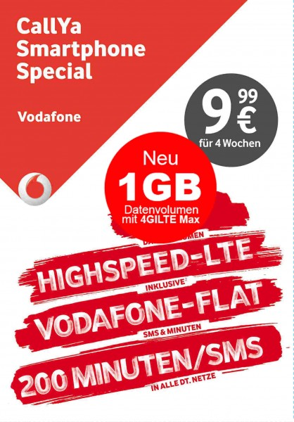 CallYa SIM only Smartphone Special