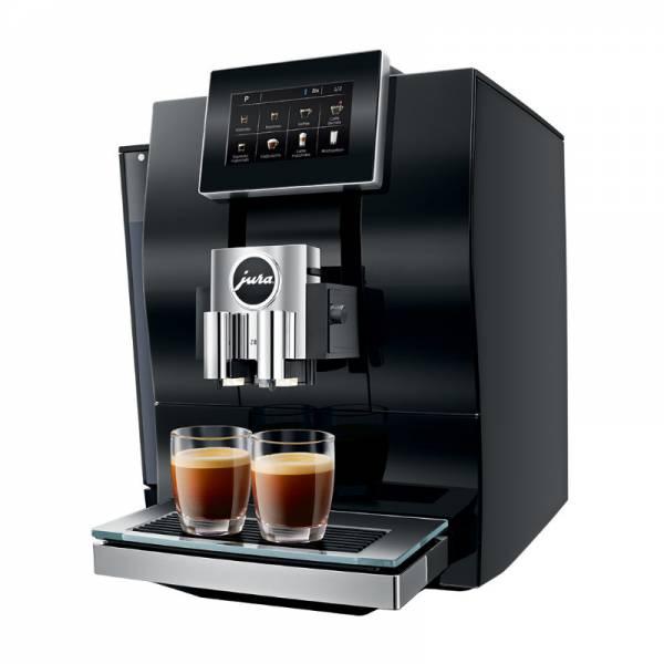 Jura Kaffeevollautomat Abgewinkelt Rechts Schwarz (Z8 Diamond Black)