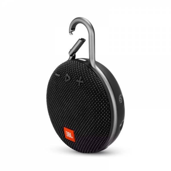 JBL Bluetooth Lautsprecher Schwarz Abgewinkelt (Clip 3)