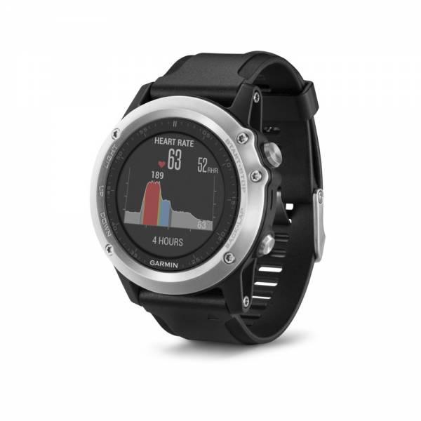 Garmin Fenix 3 HR Silber Smartwatch Front