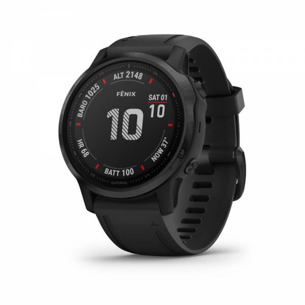 Garmin Fenix 6S Pro Schwarz Smartwatch Front