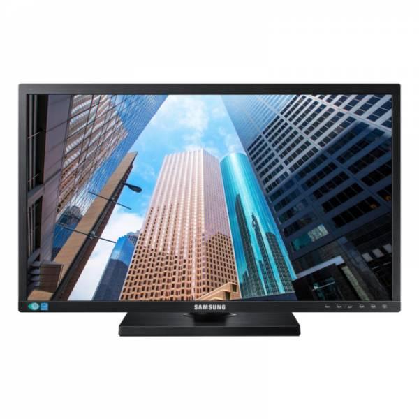 Samsung 24 Zoll Monitor Schwarz Front (LS24E65UPLC/EN)
