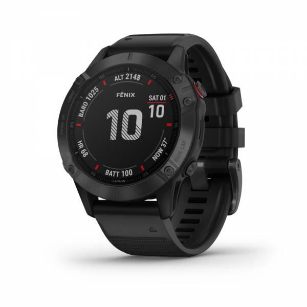Garmin Fenix 6 Pro Schwarz Smartwatch Front
