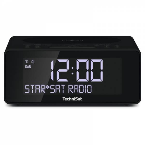 Technisat DAB+/UKW-Uhrenradio Schwarz Front (DIGITRADIO 52)
