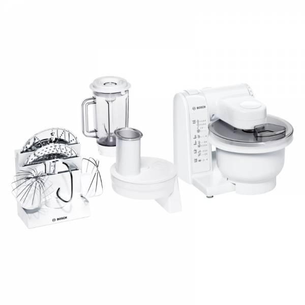 Bosche Küchenmaschine Set Front Weiß (MUM 4830)