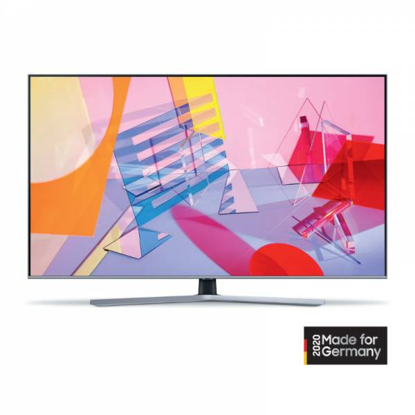 Samsung Fernseher Front Silber/Schwarz (GQ50Q67T)