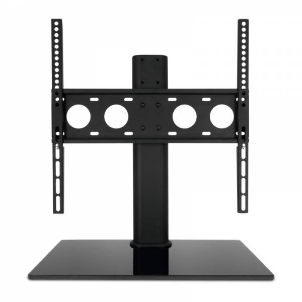 Technisat TV Tischfuß Front Schwarz (Universal TV-Tischfuß mit Glasboden 32 bis 55 Zoll)