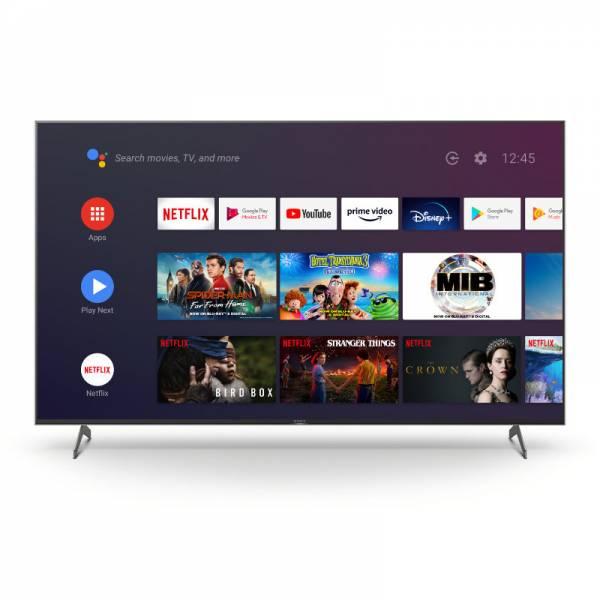 Sony Fernseher Front Bild mit Apps Schwarz (KD85XH9096B)