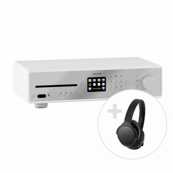 Maestro weiß + Audio-Technica ATH-ANC900BTBK