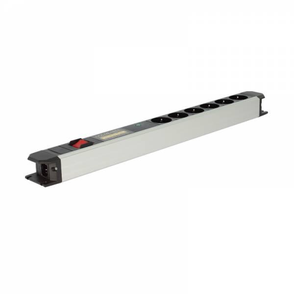 Goldkabel Netzleiste Aluminium (edition Powerline Flex 6er Vollschutz mit Schalter)