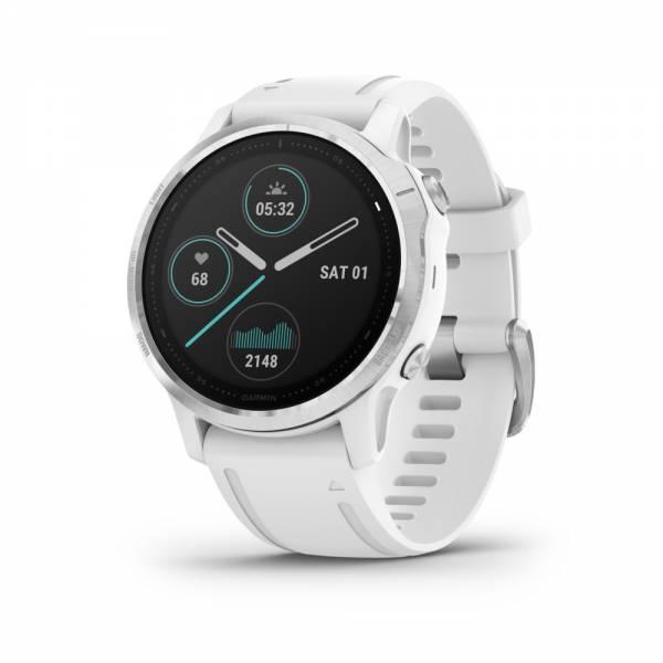 Garmin Fenix 6S Weiß Silber Smartwatch Front