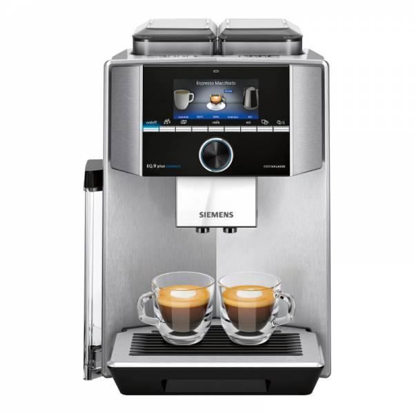 Siemens EQ.9 Kaffeevollautomat Front Edelstahl (TI957FX1DE)