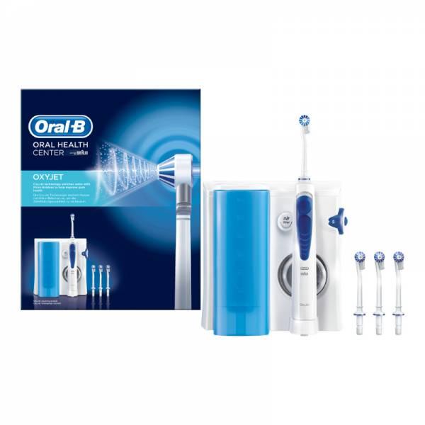 Oral-B Munddusche Weiß Verpackung und Produkt (ProfCare OxyJet)