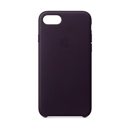 iPhone 8 Leder Case dunkelaubergine