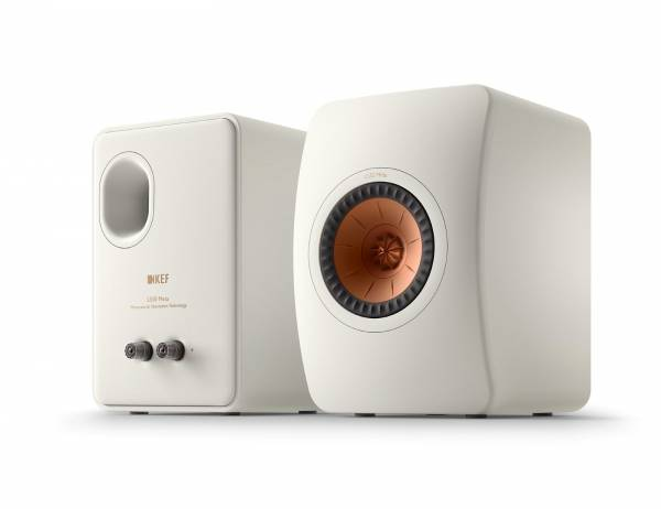 KEF LS50 Meta Front Back Mineral White