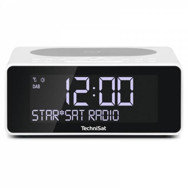 Technisat DAB+/UKW-Uhrenradio Weiß Front (DIGITRADIO 52)