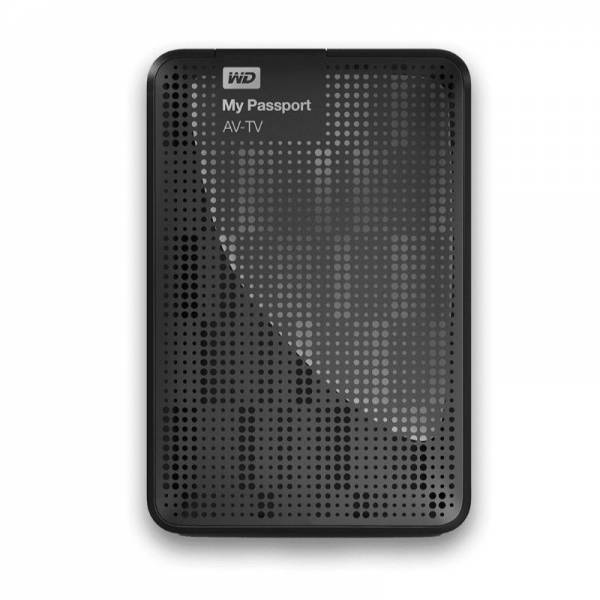 Western Digital Externe Festplatte Front (My Passport AV-TV 500GB)