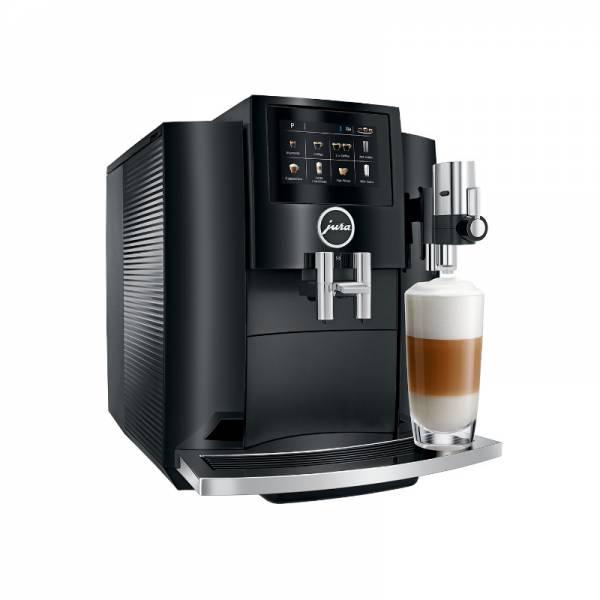 Jura Kaffeevollautomat Schwarz Abgewinkelt Links (S8 Piano Black EA)