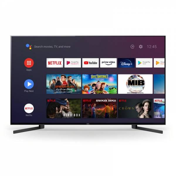 Sony Fernseher Front mit Apps Schwarz (KD-49XH9505)