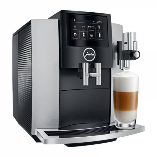 Jura Kaffeevollautomat Silber Abgewinkelt Links (S8 Moonlight Silver EA)