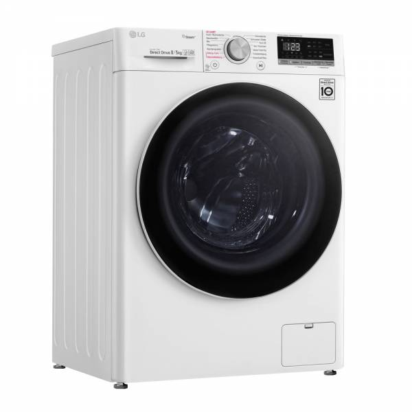 LG V4WD850 Waschtrockner Front Geschlossen 2
