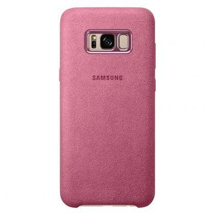 EF-XG950 Alcantara-Cover Galaxy S8 pink
