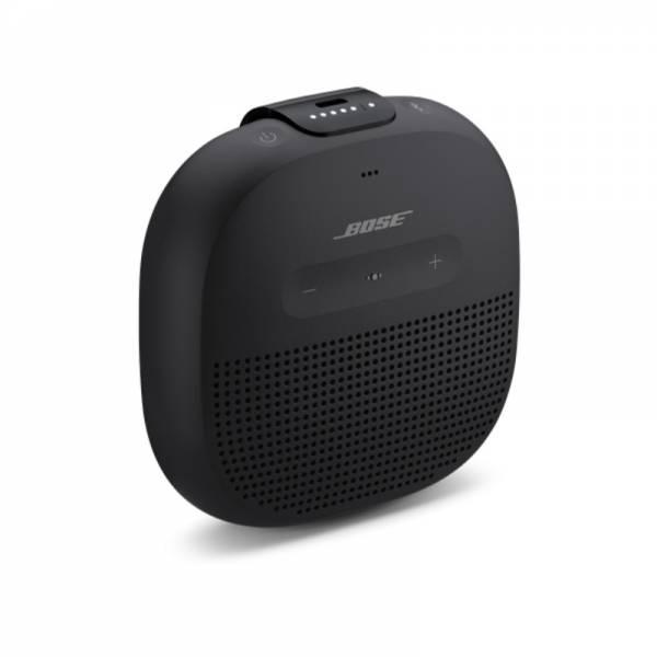 Bose Bluetooth Lautsprecher Schwarz Abgewinkelt (Soundlink Micro)