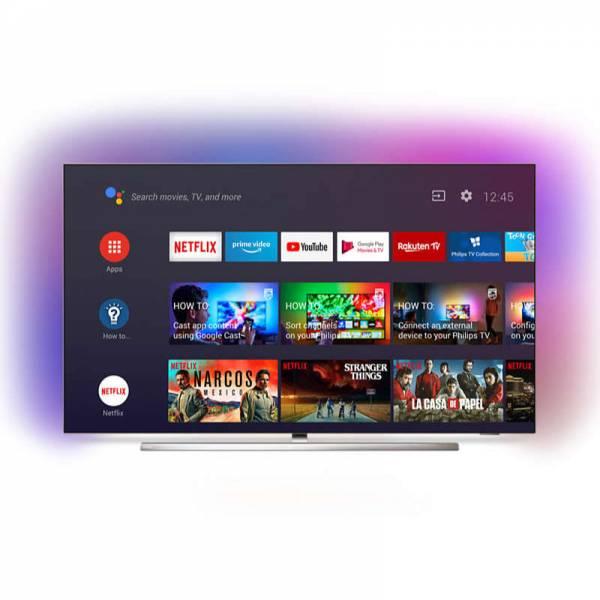 Philips Fernseher Front mit Apps Schwarz (55OLED854)
