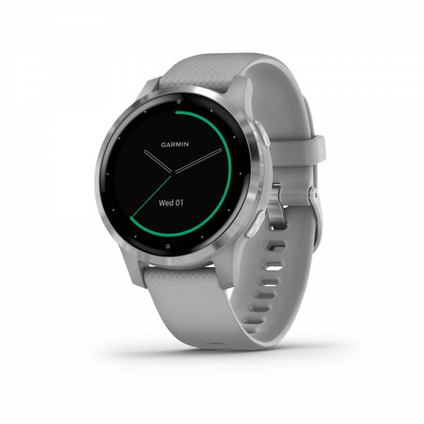 Garmin Vivoactive 4S Grau Silber Smartwatch Front