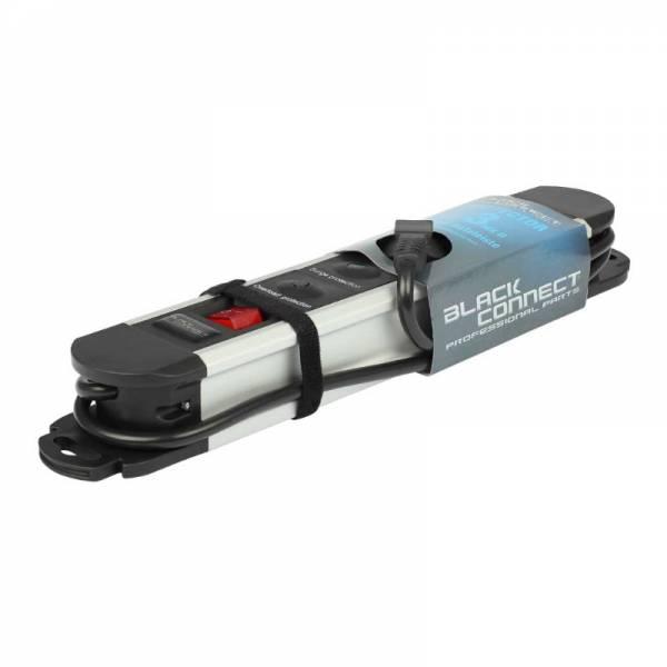 Black Connect Netzleiste 3-fach Aluminium (Protector 3 MKII)