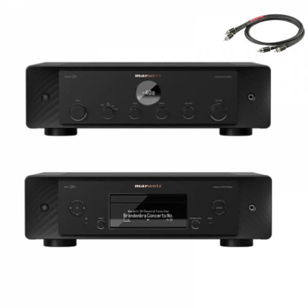 Marantz Model 30 (Vollverstärker) und SACD 30n (SA/CD-Player) Set mit Kabel