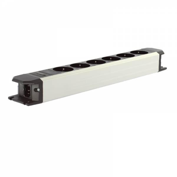 Goldkabel Netzleiste Aluminium (edition Powerline Flex 6er ohne Schalter)