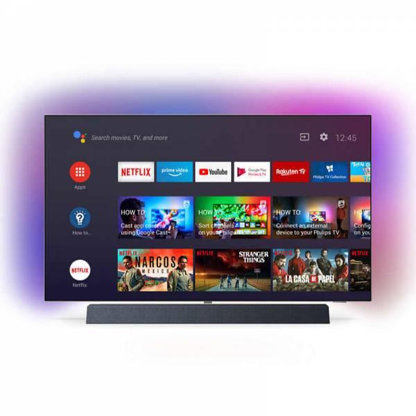 Philips Fernseher Front mit Apps Schwarz (55OLED934)