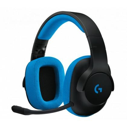 G233 Prodigy Wired Gaming Headset - Black/Cyan - 3,5mm