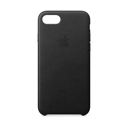 iPhone 8 Leder Case schwarz