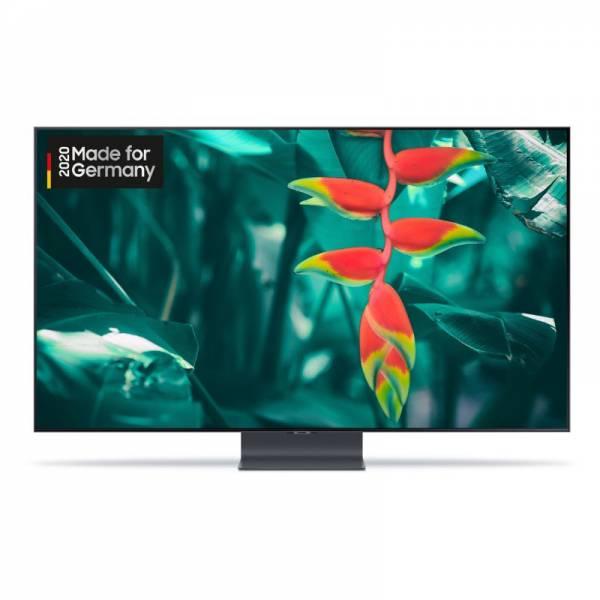 Samsung Fernseher Front mit Bild Schwarz (GQ55Q95TGTXZG)