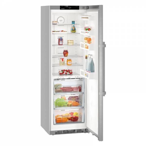 Liebherr Kühlschrank Silber Abgewinkelt Offen (KBef 4330-21)
