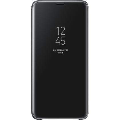 EF-ZG965 Clear View Standing Cover Galaxy S9+ schwarz