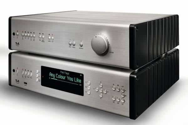T+A MP 1000E PA 1000 E silber/schwarz front
