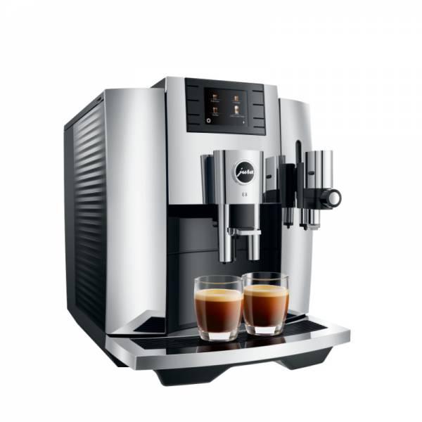 Jura Kaffeevollautomat Chrom Abgewinkelt Links (E8 Chrom EB)
